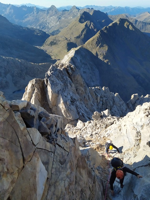 Llegando a la cima norte de la Forcanada